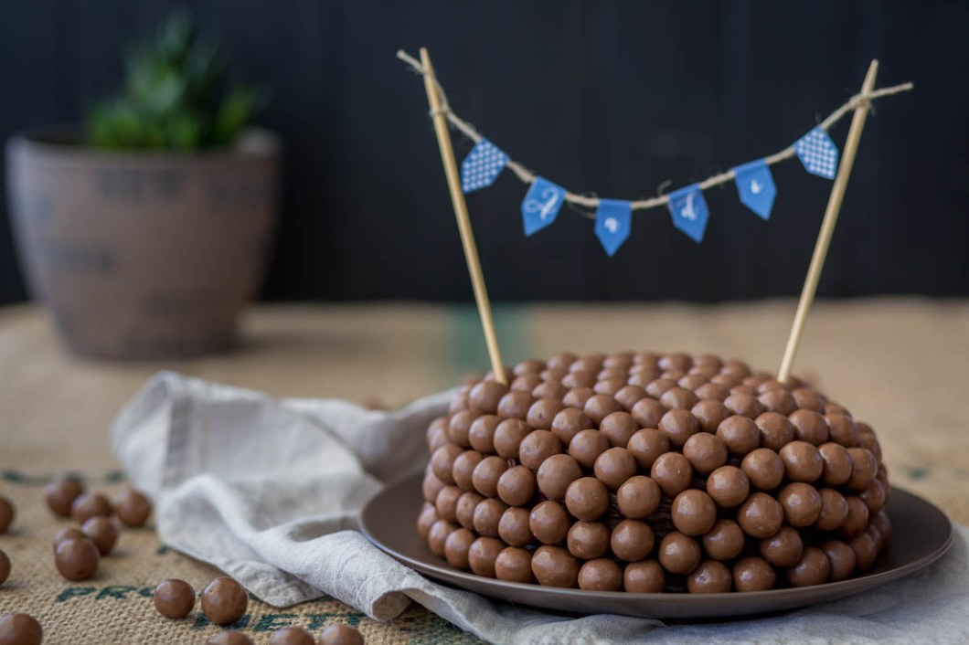 Happy Birthday Malteser Chocolate Cake by nordbrise.net