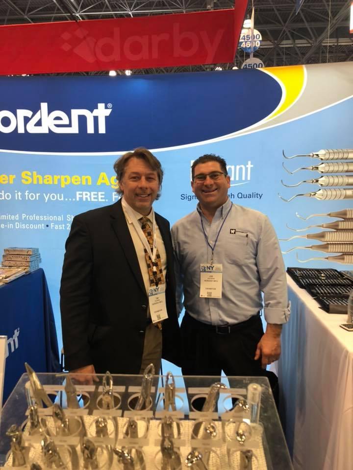 Tim Irwin, Vice President (left) and Joe Boris, Nordent sales representative (right)