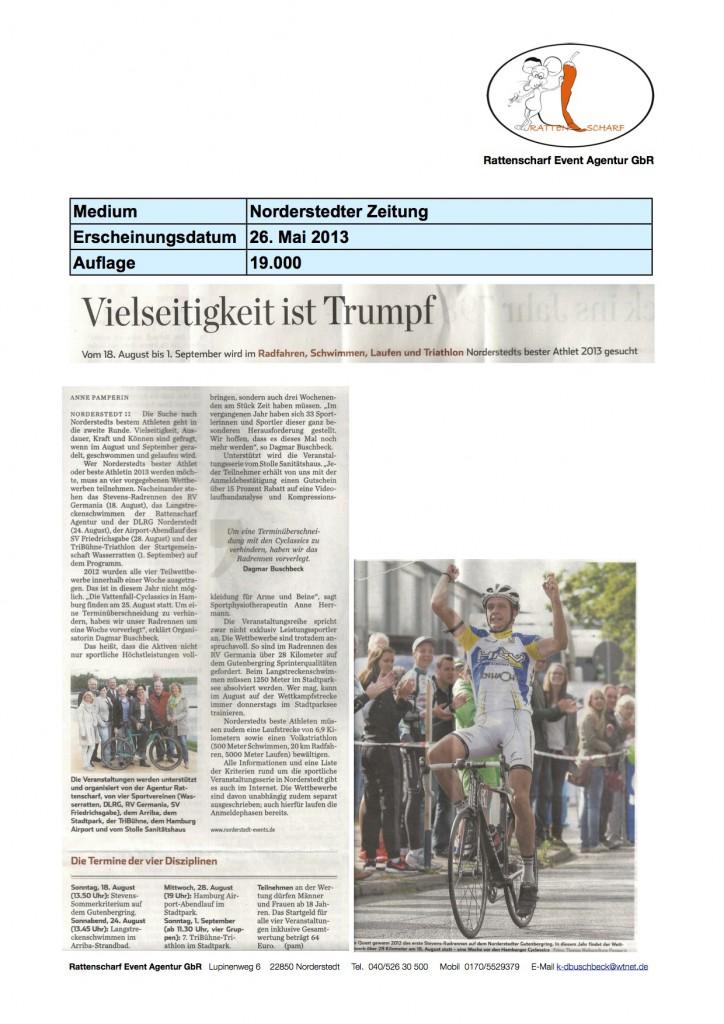 Norderstedter Zeitung 26.5.2013