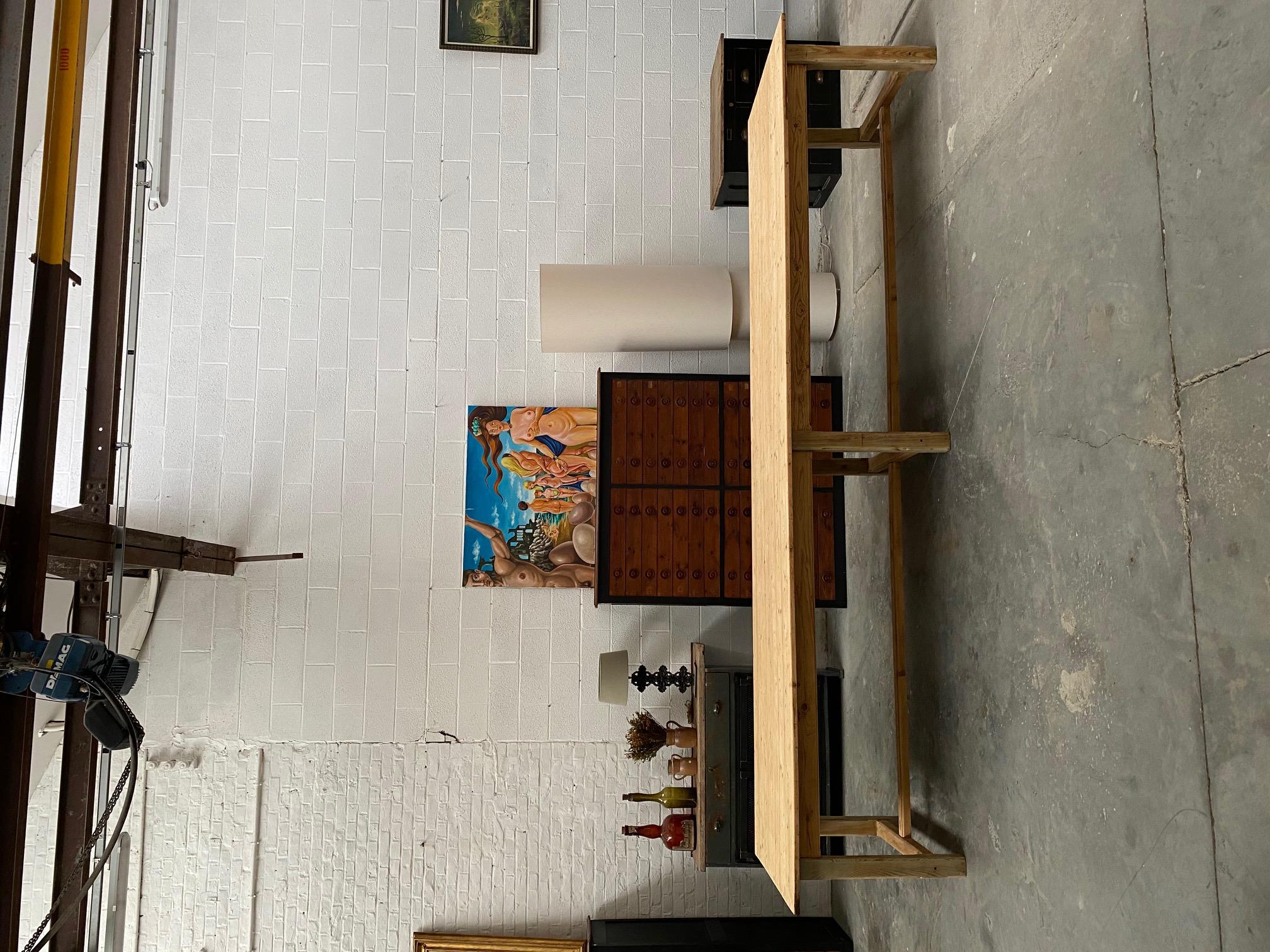 tres grande table de ferme ancienne