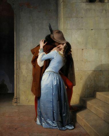 Il bacio di Hayez, 1859 (Pinacoteca di Brera, Milano)