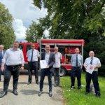 Neubau des Feuerwehrhauses in Vöhl-Buchenberg unterstützt