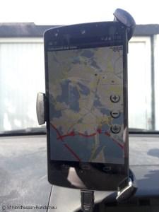 Navi mit Autohalterung