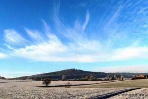 Winterlicher Blick von der Altenburg auf Borken (Archivfoto: Rainer Sander)