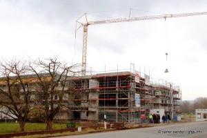 Man kann erahnen, wie das Gebäude aussehen wird. (Foto: Rainer Sander)