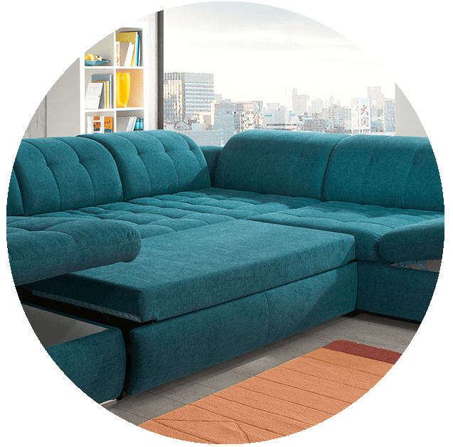 how to re plump leather sofa cushions cheapest wooden set online alpine sectional : sleeper with storage
