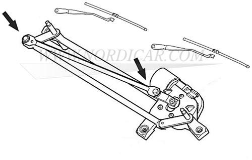 Ruitenwisser mechaniek reparatie clip Volvo S/V40 C30 C70