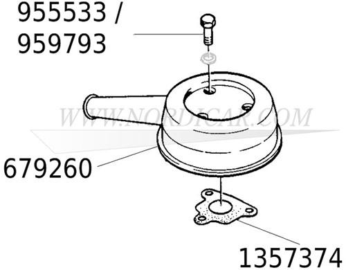 Air filter bolt UNC 5/16 L=113mm