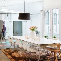 White Bertoia Side Chair Cover Ideas For Party Nordic Homes: Swimming Pool In The Kitchen | Bliss