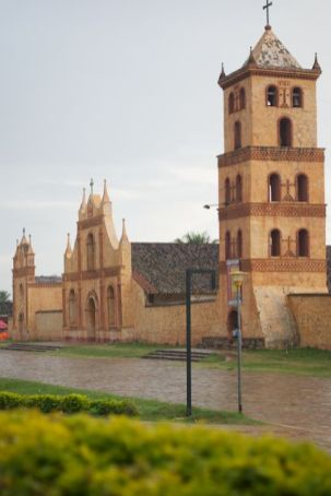 The beautiful cathedral of San Jose de Chiquitos
