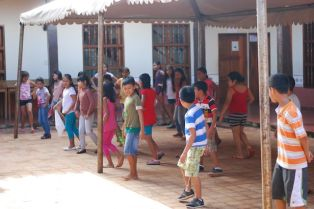 The children at the Centro Cultural in San Ignacio learn music, dance and computer skills.