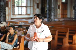 Elma is the chief of culture in San Ignacio