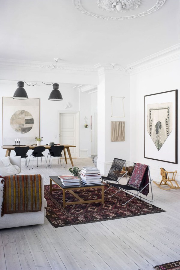Peek Beautiful And Eclectic Copenhagen Home Of Art Curator - Nordicdesign