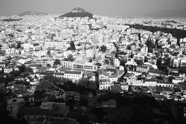 View towards Lycabettus Hills, Athens