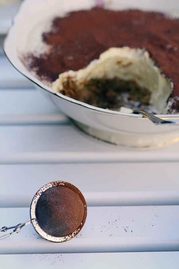 En tiramisu trenger kakao
