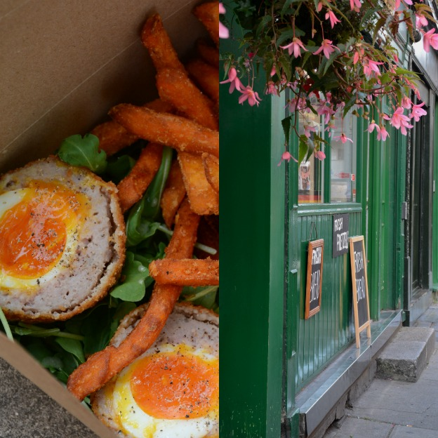 Scotch eggs as Borough Market and nearby German shop