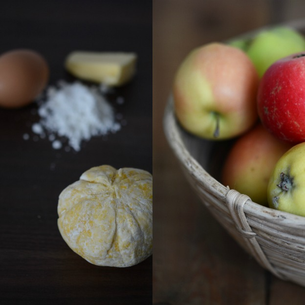Gluten-free shortcrust pastry and apples