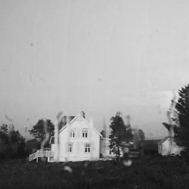 My grandparent's house on a rainy night.