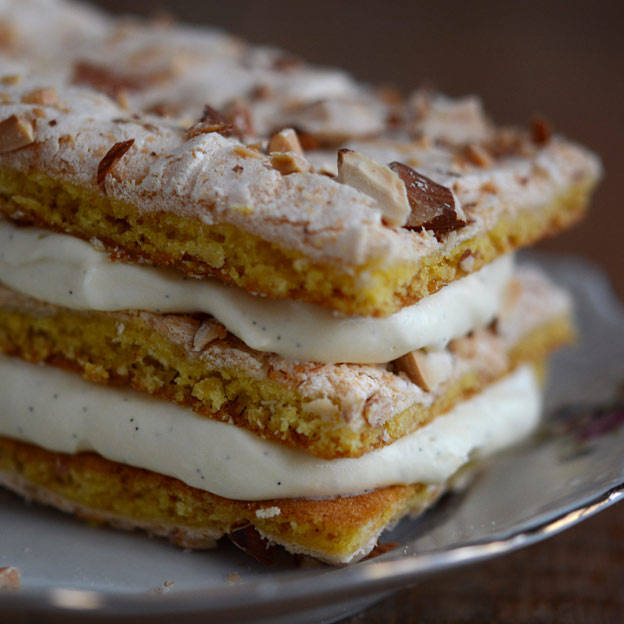 Arctic mille-feuille (Kvæfjordkake) is from the North of Norway