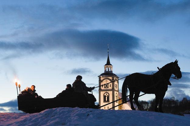 Horse and sled. Photo: Morten Brun / Destination Røros