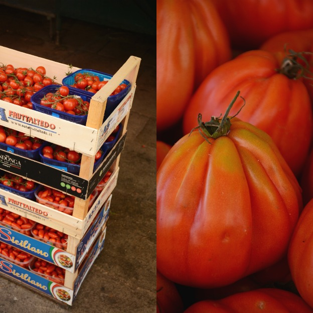 Pomodori, tomatoes in all shapes and sizes