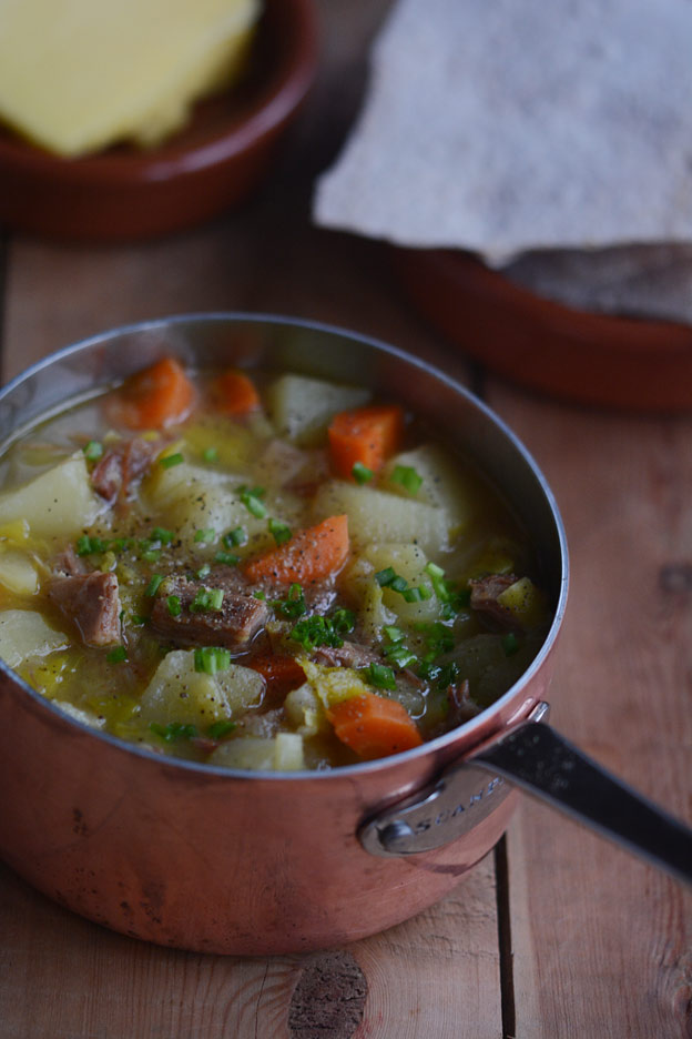 Lobscouse, lapskaus, is a traditional Norwegian stew which started as a sailor's dish.