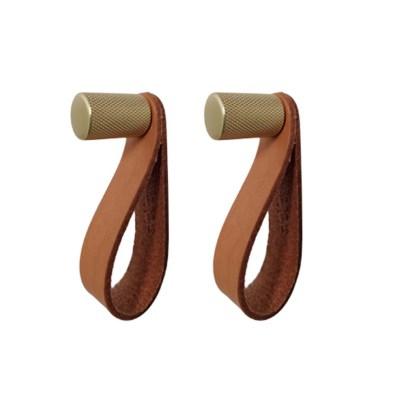 Nordic Function ShineUp messingknage eller greb med læderstrop