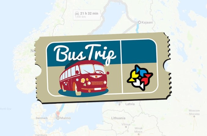 From Finland to NG17 by bus