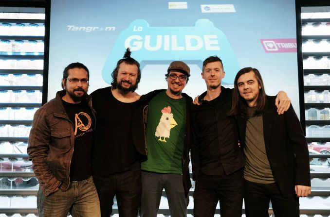 La Guilde co-founders at launch party, 2016
