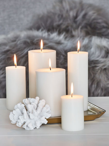Cool Wall Lights Pure Stearin Pillar Candles | Stearin Pillar Candles