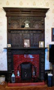 The fireplace at Yannon Towers (Post-game, Nathan Hook)