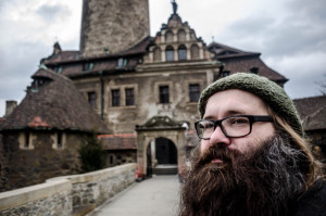 Groundskeeper Petrus Grimm keeps an eye over the school grounds. (College of Wizardry, post-game, by Johannes Axner)