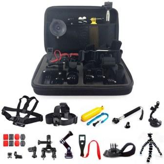 GoPro camera accessories.