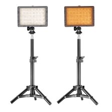Neewer CN-160 video lights on stands.