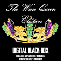 Digital Black Box cover from The Election of the Wine Queen, illustration by Gerrit Reininghaus
