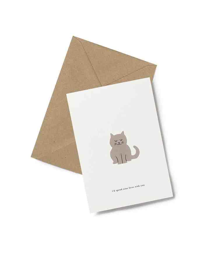 Kartotek 'nine lives' Greeting Card