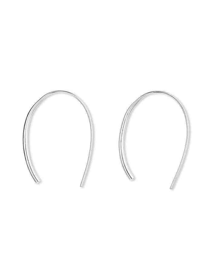 Silver Open Hoop Earrings