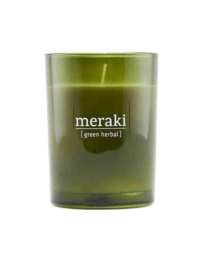 Meraki Scented Candle, Green Herbal