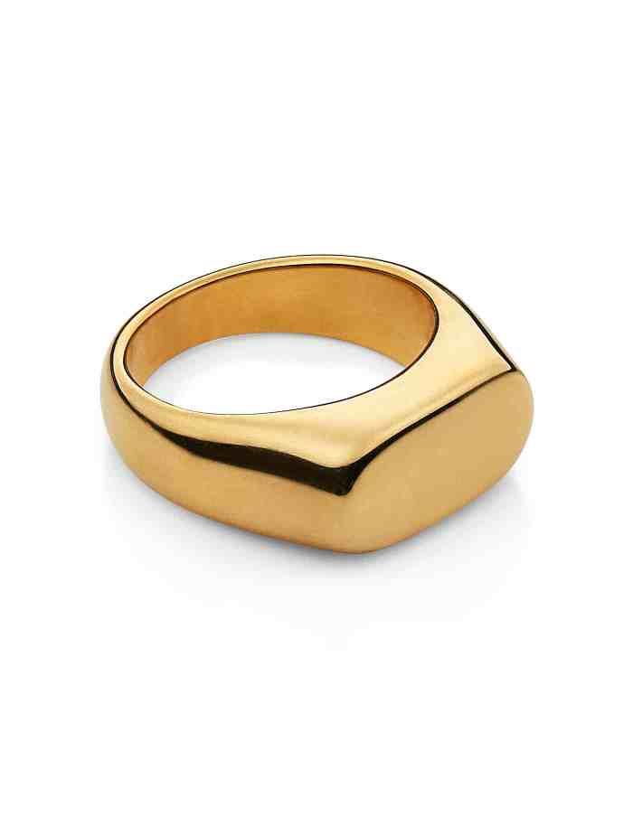 Gold Oval Signet Ring, Forever Lasting