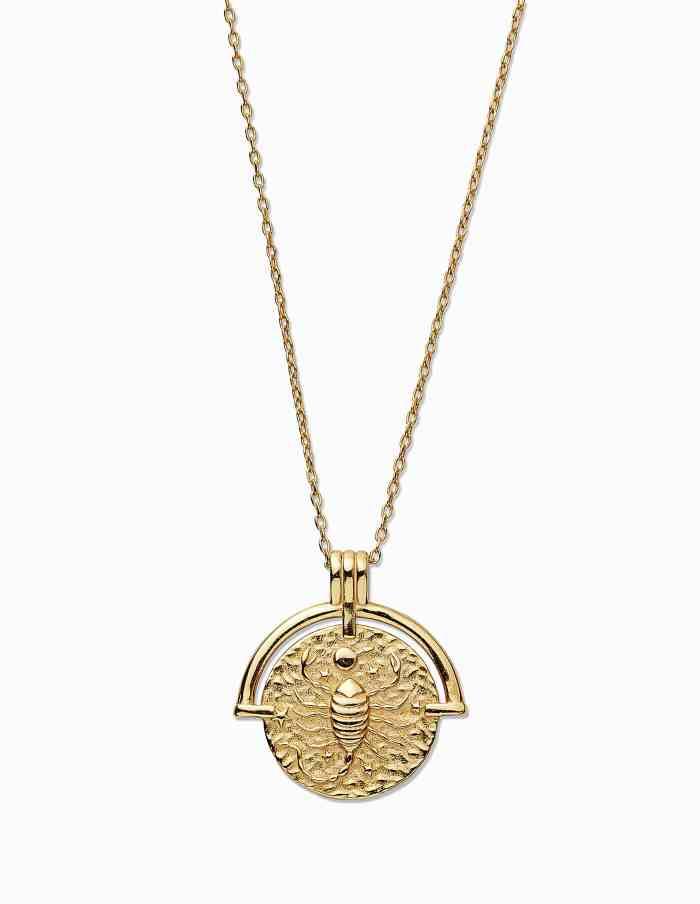 Gold Scorpio Zodiac Necklace