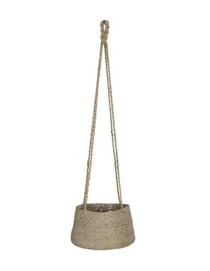Tapered Hanging Plant Pot, Jute