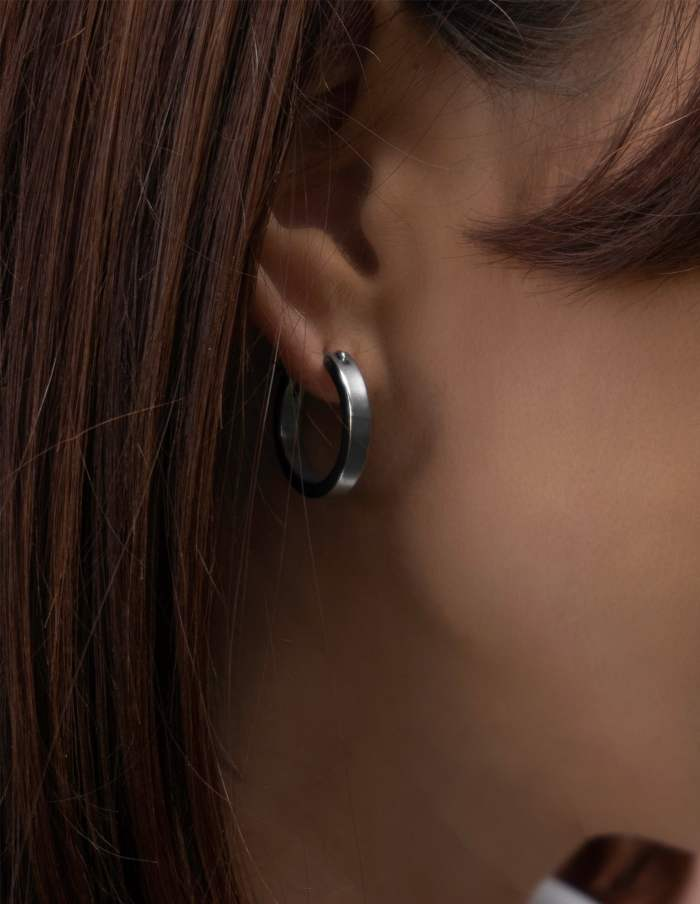 Small Silver Hoop Earrings, Forever Lasting