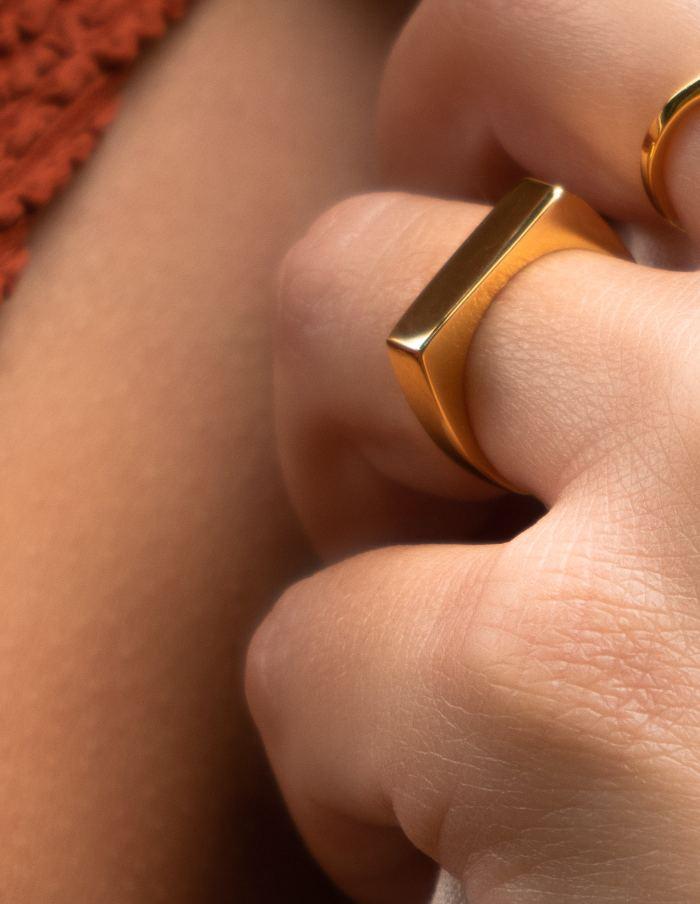 Gold Vermeil Signet Ring