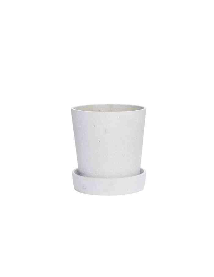 Medium Grey Tapered Plant Pot, Hübsch