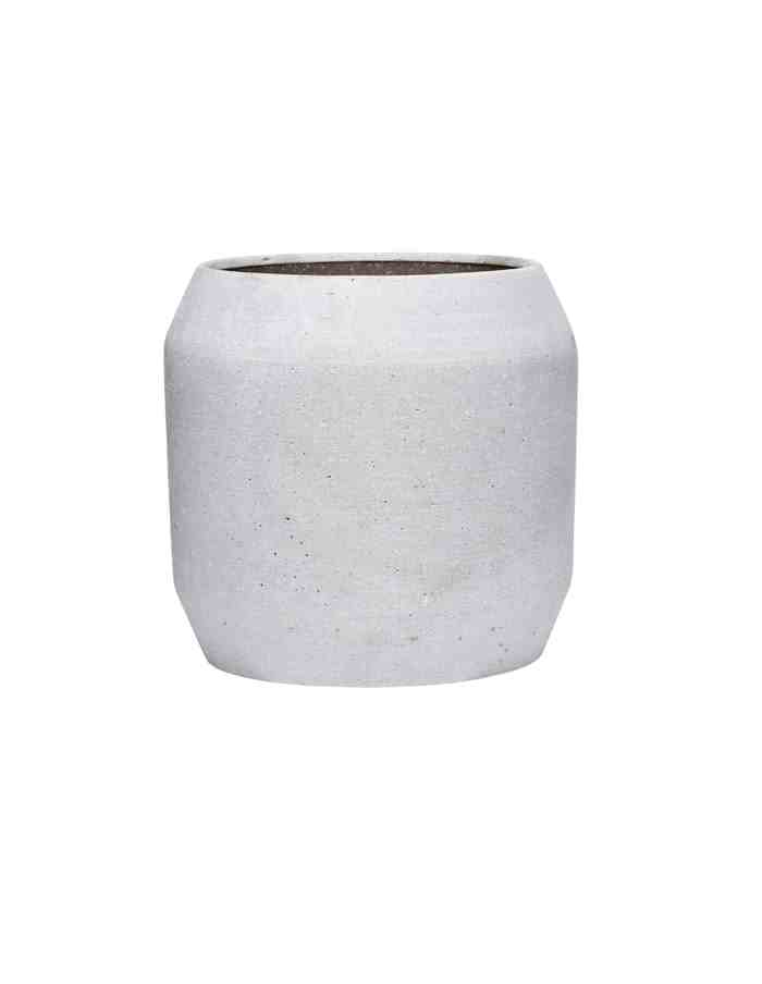Large Grey Rounded Plant Pot, Hübsch
