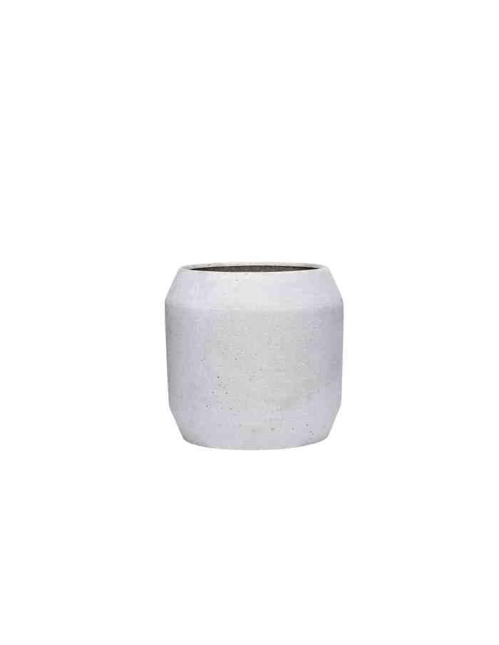 Medium Grey Rounded Plant Pot, Hübsch
