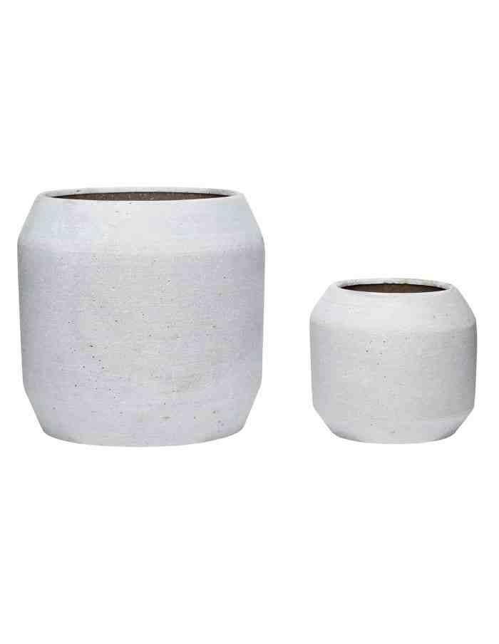 Grey Rounded Plant Pot Set, Hübsch