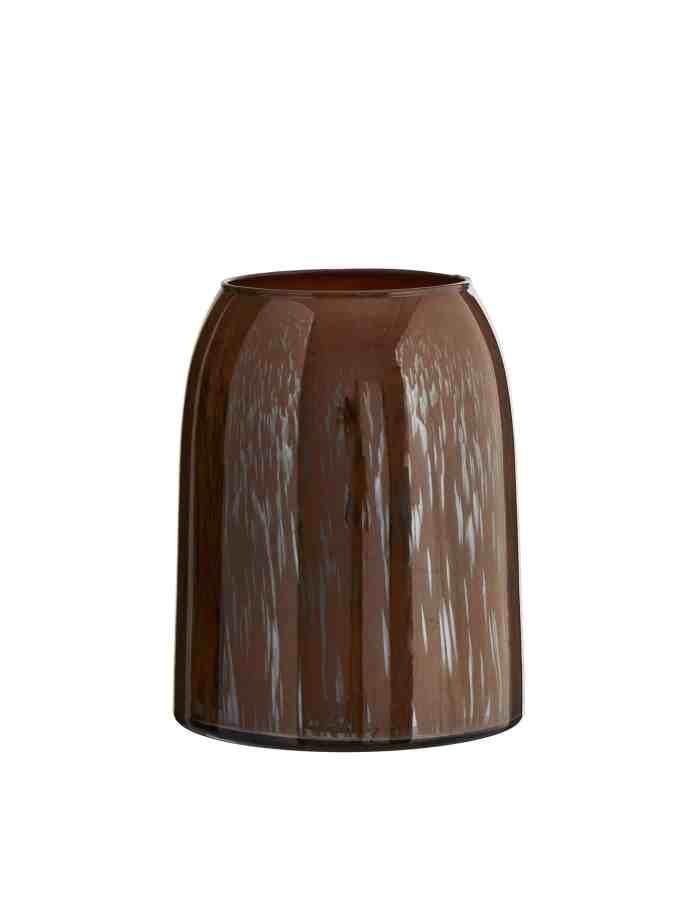 Brown Tonal Glass Vase, Madam Stoltz