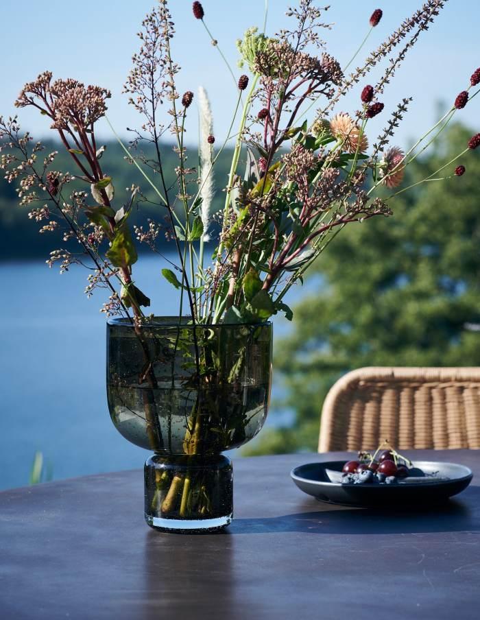 Farida Amber Glass Vase, House Doctor