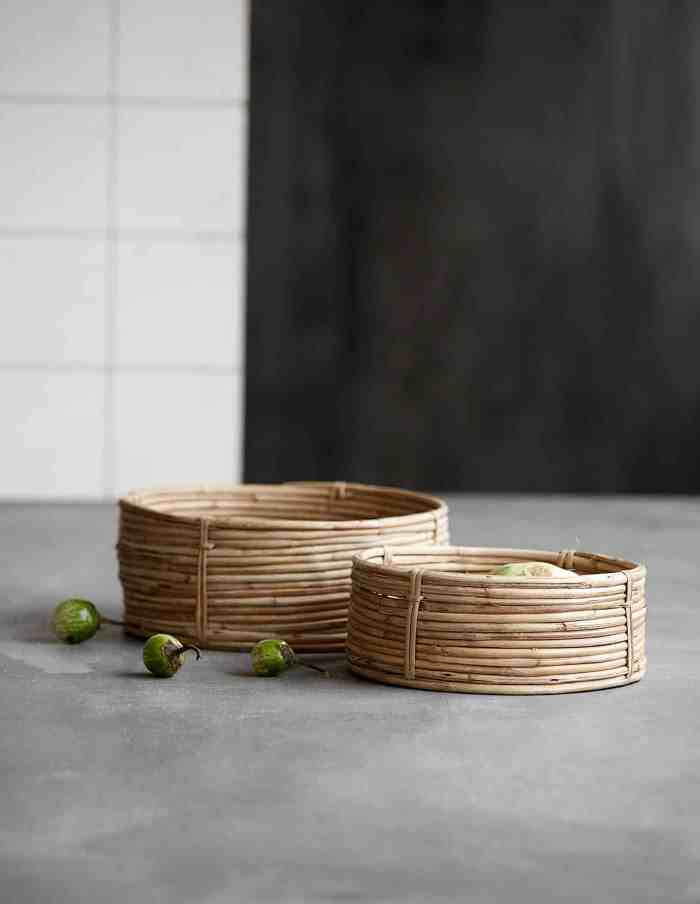 Retro Rattan Bamboo Basket, House Doctor